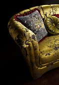 New Tiffany fotelji love-seat black gold